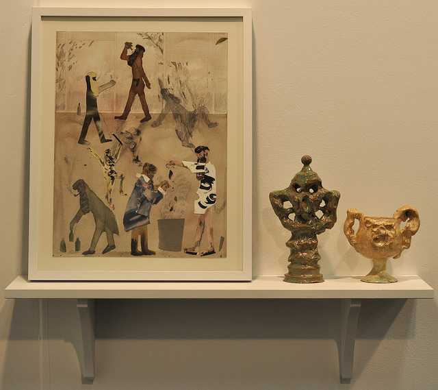 Works by Guðmundur Thoroddsen at the Asya Geisberg gallery booth.