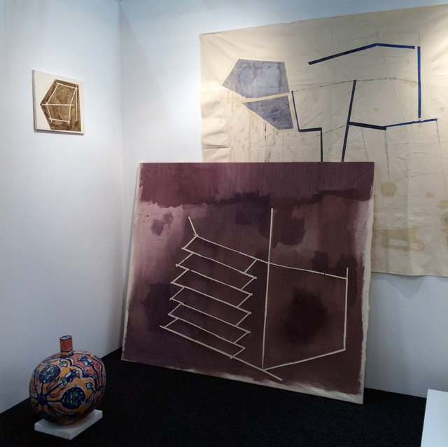 Paintings by Sharon Butler at Seattle's Season Gallery booth