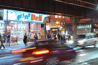 The corner of Broadway and Myrtle, on the border of the Bushwick and Bedford-Stuyvesant neighborhoods. (click to enlarge)