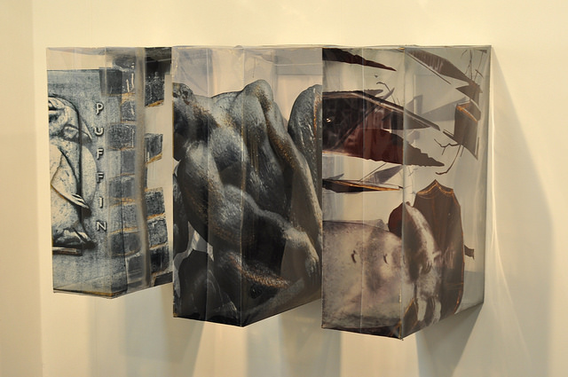 Three sculptures by Lena Henke from her Parkchester City Series (all 2014) at Galerie Parisa Kind of Frankfurt, Germany
