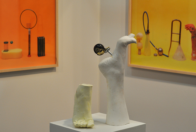Sculptures and photographs by Tamar Ettun at the Artis booth.