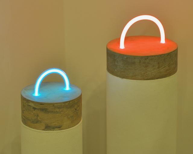 "Esther Ruiz's ""Blue Sun"" (2013) and ""Blush Commune"" (2013)"
