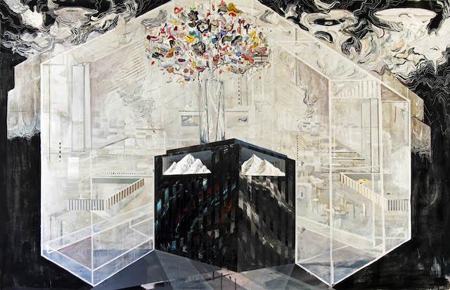 "Ricky Allman, ""All of Us Redux"" (2013), acrylic on canvas, 5 x 7 feet. Image courtesy of the artist."