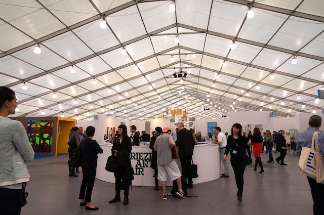 On the floor at frieze new york 2014 for Craft fair nyc 2017