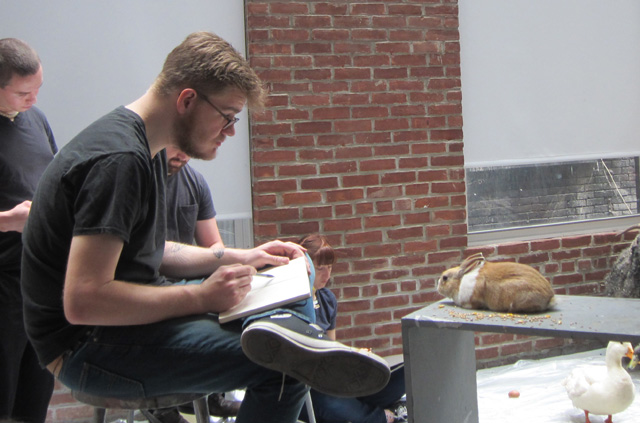 Man & Beast class at the New York Academy of Art (all photographs by the author for Hyperallergic unless otherwise noted)