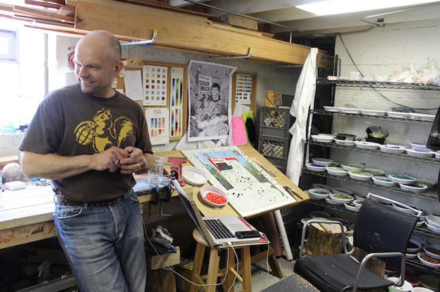 Bachor in his studio