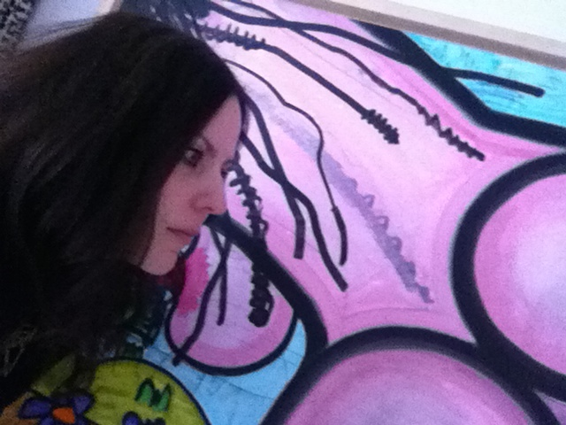 "Katherine Mojzsis' ""Carroll Dunham & me"" selfie"