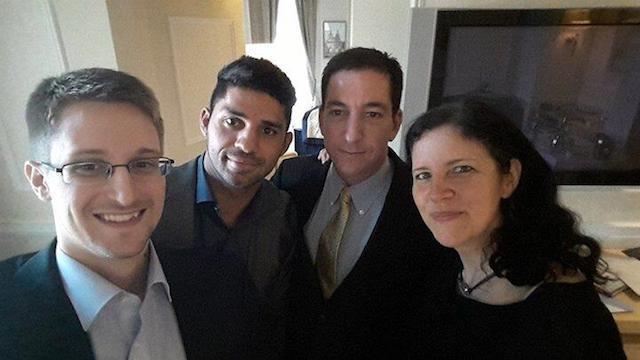 #SnowdenSelfie image via Facebook.