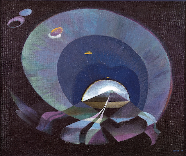 """June Wayne, """"The Tunnel"""" (1949). Oil on canvas. From the June Wayne Collection, courtesy Louis Stern Fine Arts."""