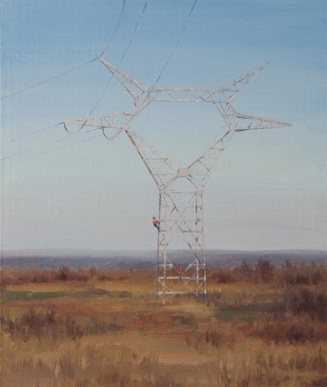 "Serban Savu, ""Dusk"" (2013), 36x30 cm, oil on canvas mounted on board"