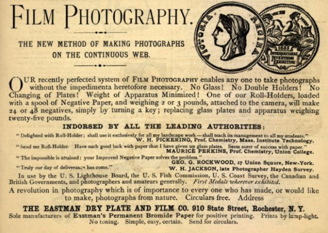 Late 1800s advertisement for Eastman, image from vintageadbrowser.com.