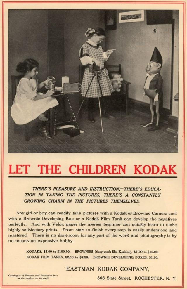 A 1900 Kodak ad, image from vintageadbrowser.com.
