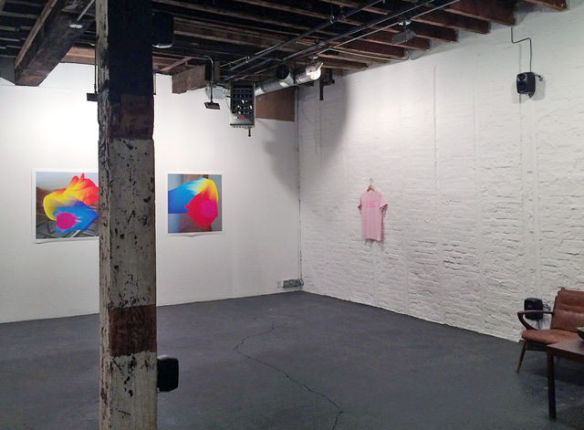 """An installation view of Mark Fell's """"I Refuse to be Complicit in Your Pathology"""" (2014), 4-channel sound installation with additive sound synthesis, composite kick drum (TR 808+TR 707) and found vocals, at Southfirst Gallery (all photos by the author unless otherwise noted)"""