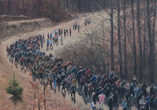"Serban Savu, ""Procession"" (2012), 35x50 cm, oil on canvas"
