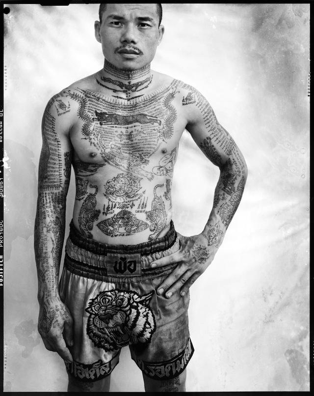 Cedric Arnold's portrait of Yantra, a Muay Thai boxer, Bangkok (2008-2011) (© Cedric Arnold)