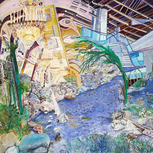 "Olive Ayhens, ""Interior Wilderness"" (2009–10), oil on linen, 60 x 60 in"