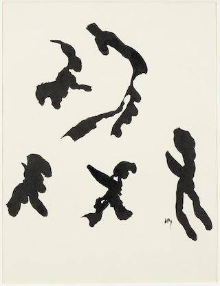 Henri Michaux _Mouvement_ 30x25 cm (vers 1950)