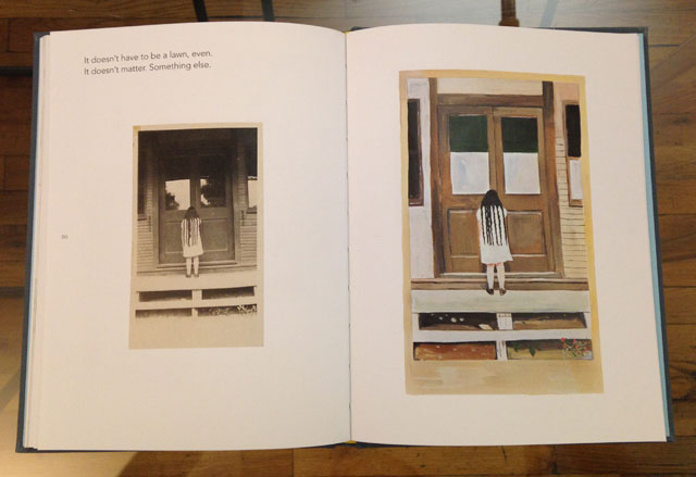 Maira Kalman and Daniel Handler, 'Girls Standing on Lawns' (photo by the author for Hyperallergic)