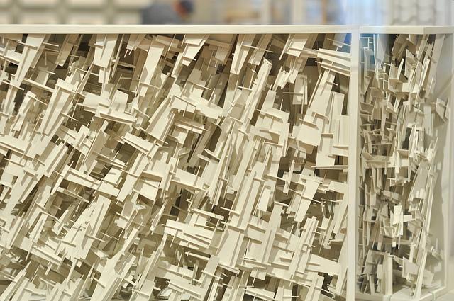 """Lebbeus Woods, """"Terrain"""" (1999), polystyrene"""