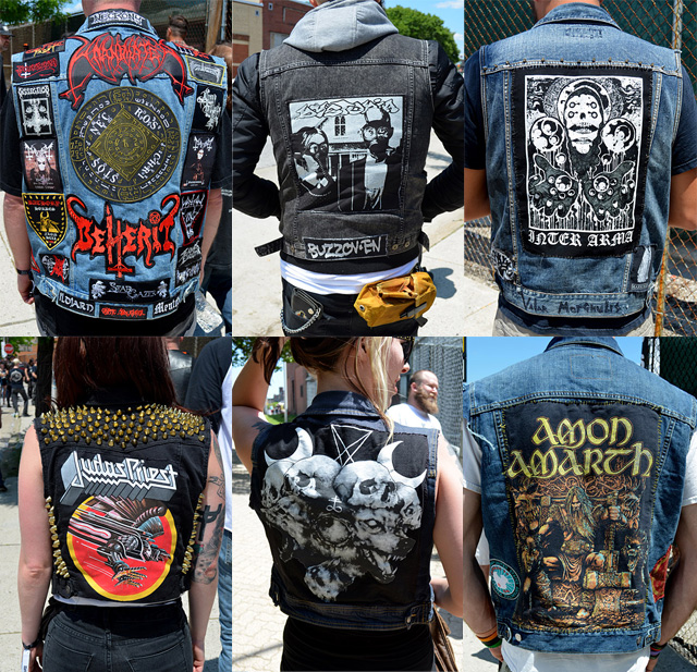 """I'm a sucker for subcultures and their visual culture. Here Andrew Aversionline walked about a Death Metal event in Maryland and posted the """"Top 50 backpatch photos of the 2014 Maryland Deathfest."""" (via No Echo, h/t @heartasarena)"""