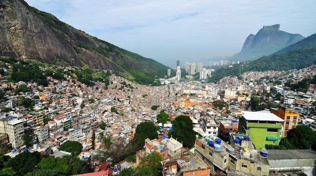 Rocinha, Rio's largest favela (image via Wikimedia Commons)