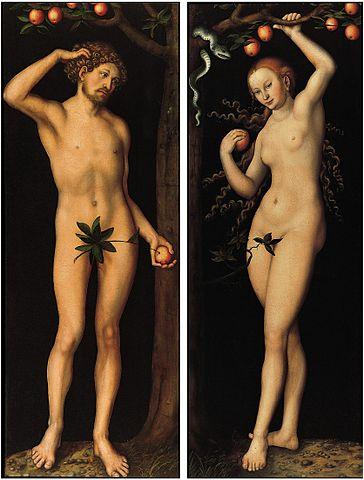 "Lucas Cranach the Elder, ""Adam"" and ""Eve"" (both 1530), oil on panel (via Norton Simon Museum)"