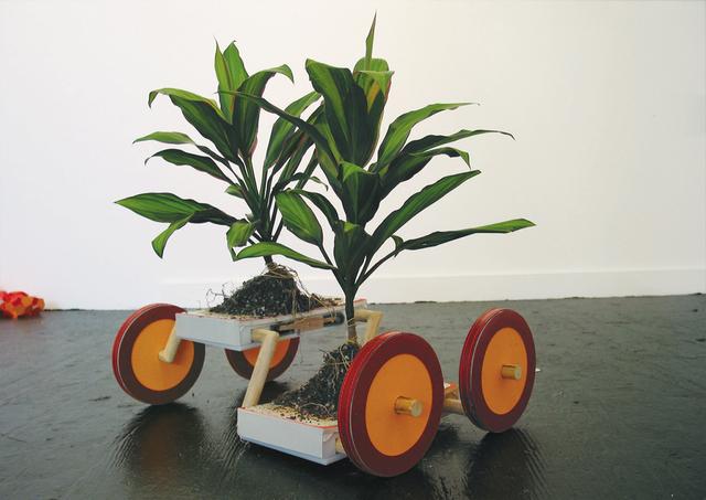 Futurefarmers, Photosynthesis Robot, 2003.   Image credit: Created by Futurefarmers: Amy Franceschini, Michael Swaine, Dan Allende and Stijn Schiffelers. © 2003 Futurefarmers. Courtesy the artists.
