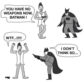 "Batman is ""armed."" (via twitter.com/aiww)"