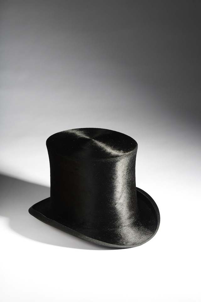 Swiss, c. 1885–1925. The desire for beaver fur hats in European men's fashions dates back centuries and spurred the development of the 17th century North American fur trade. However, it was not until the 1730s that mercury began to be used in the making of beaver top hats. This hat, which dates to the end of the 19th century, still contains small amounts of mercury. Collection of the Bata Shoe Museum. Photo credit: Image © 2014 Bata Shoe Museum, Toronto, Canada (photo: Ron Wood)