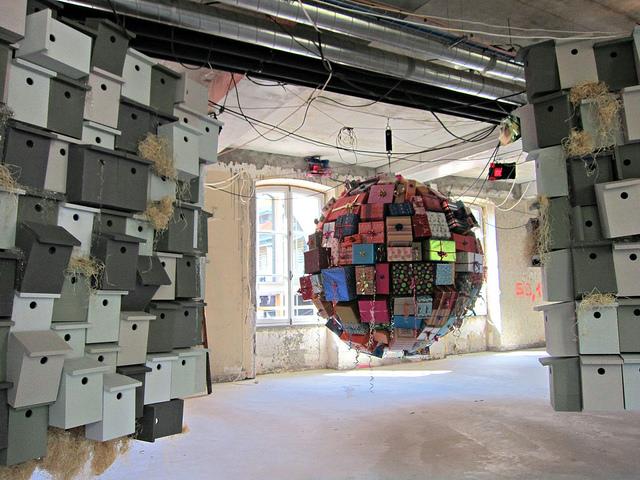 """Pascale Marthine Tayou, """"Empty Gift"""" (2013) & """"Favelas"""" (2012)"""