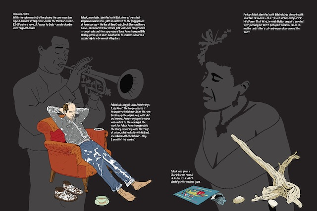 """Illustration by Peter Arkle from """"This is Pollock"""""""