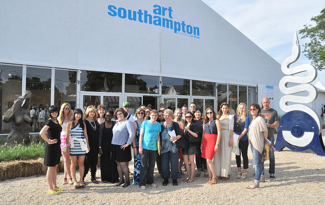 Participants in last year's Hyperallergic trip to the Hamptons. (photo by Hrag Vartanian for Hyperallergic)