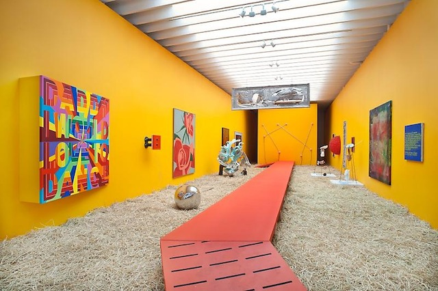 Installation view of Bloodflames Revisited (courtesy of the Paul Kasmin Gallery)