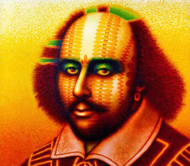 """ED PASCHKE  """"Sonnet 2""""  36"""" by 40""""  oil_canvas  2003  COPYRIGHT- THE ESTATE OF ED PASCHKE.  COURTESY- MARY BOONE GALLERY, NEW YORK."""