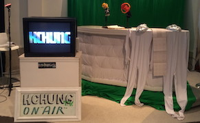 KCHUNG TV stage at Made in L.A. 2014