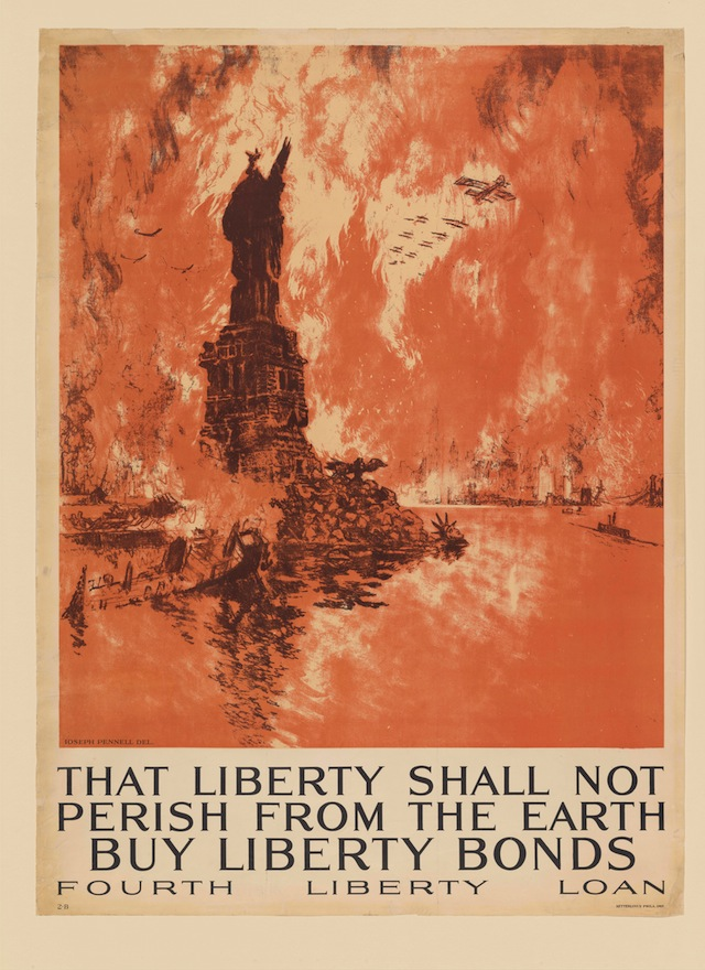 That Liberty Shall Not Perish from the Earth—Buy Liberty Bonds Fourth Liberty Loan. Joseph Pennell. Philadelphia: Ketterlinus, 1918. New York Public Library, The Miriam and Ira D. Wallach Division of Art, Prints and Photographs. (courtesy of the New York Public Library)