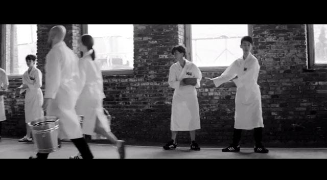 "Still from the Marina Abramović/Adidas collaboration, ""Work Relation"" (2014) (screenshot via YouTube)"