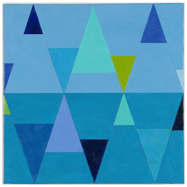 """Joanne Mattera, """"Geometry 11"""" (2013) encaustic on wood 12 x 12"""""""