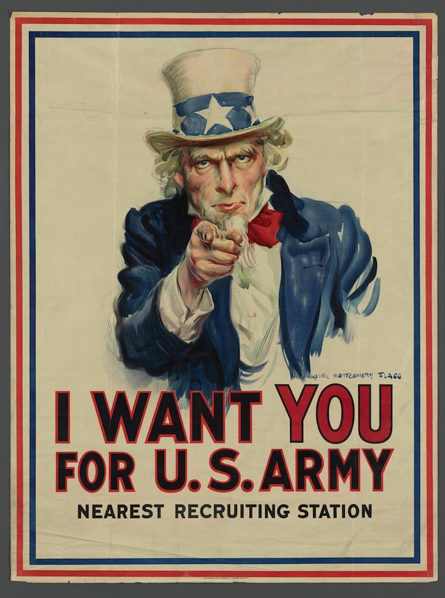 I Want You for U.S. Army. James Montgomery Flagg. New York: Leslie-Judge Co., 1917. The New York Public Library, Rare Book Division. (courtesy of the New York Public Library)