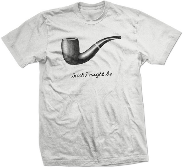 7d2c3e6d3 This Magritte-Inspired T-Shirt Hates to Be Judged