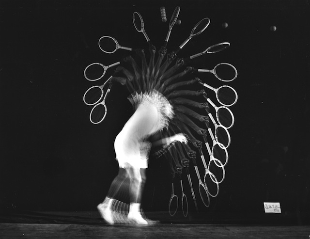 PANCHO GONZALES SERVES 1949 (© Harold Edgerton Archive, MIT. Courtesy Michael Hoppen Gallery)