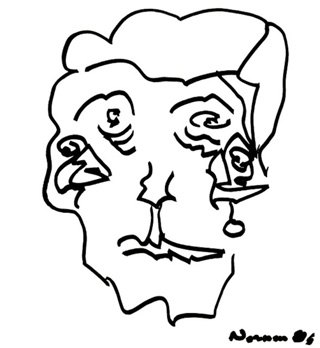 """Norman Mailer, """"Open Face"""" (nd) (image provided by POWA)"""