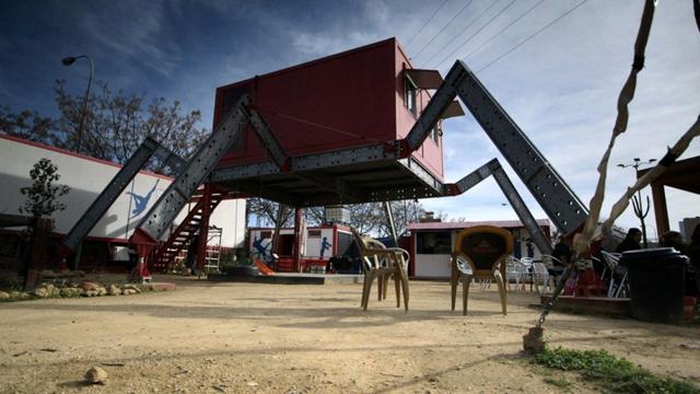 "Santiago Cirugeda's ""Spider"" building (via AlJazeera.com)"
