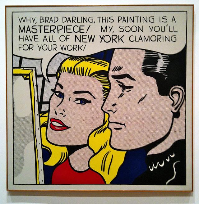 """Roy Lichtenstein, """"Masterpiece"""" (1962) (via flickr)"""