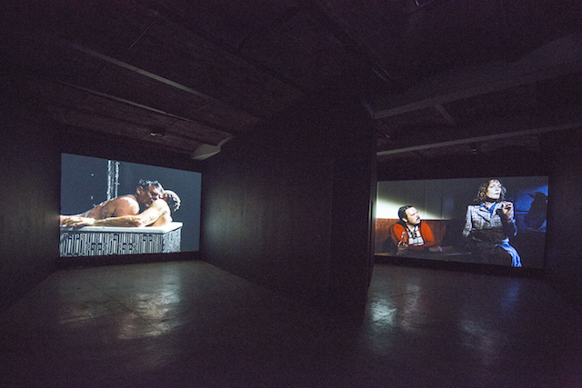 """Christoph Schlingensief, """"The Germany Trilogy"""" and """"120 Days of Bottrop, the Last New German Film,"""" 1988-1997 (photo by Matthew Septimus, courtesy MoMA PS1)"""