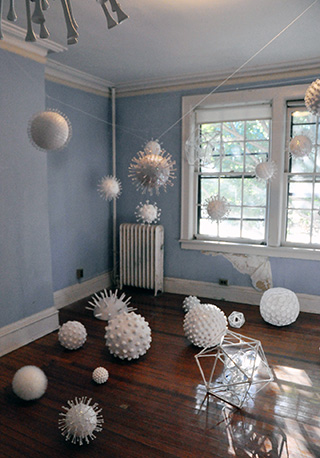 One of the room-sized installations at last year's Governors Island Art Fair.