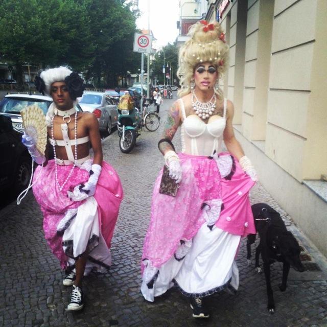 Guerilla drag, Neukölln. Photo courtesy Joseph Wolfgang Ohlert.