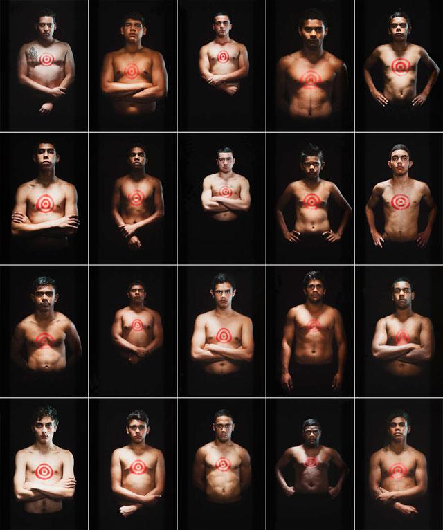 "Tony Albert's ""We Can Be Heroes"" won this year's Telstra National Aboriginal & Torres Strait Islander Art Award. (image via natsiaa31.nt.gov.au) (click to enlarge)"