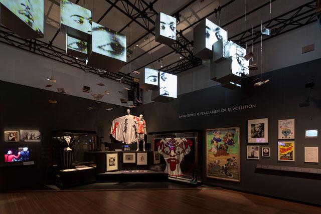 Installation view, 'David Bowie' at Martin-Gropius-Bau (© Avantgarde, photo by Thomas Bruns)