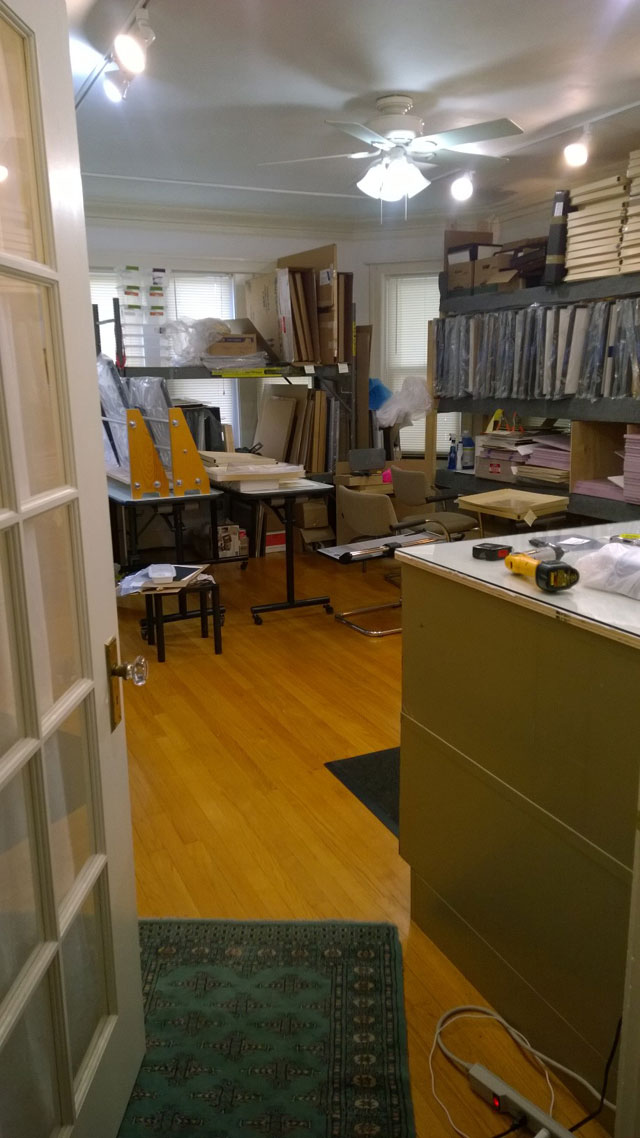 Another view of Goldstein's Vivian Maier Prints office (click to enlarge)